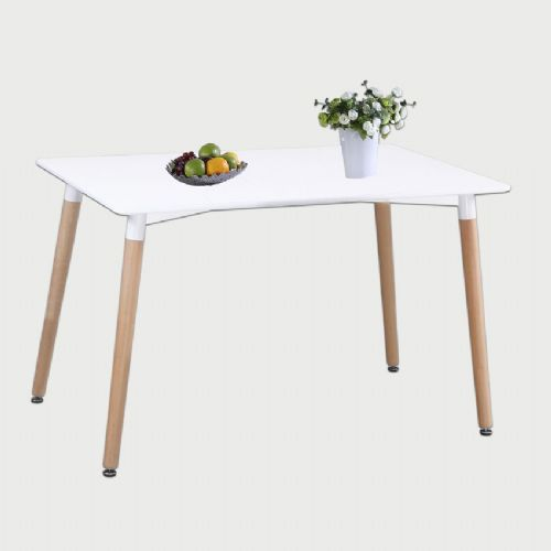 Aspen Rectangular White Painted Table With Wooden Legs